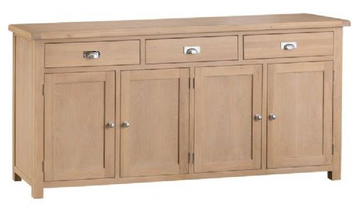 Oxford Oak 4 Door 3 Drawer Sideboard